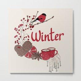 Winter dreams (colored) Metal Print