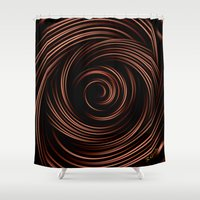 chocolate Shower Curtains featuring Chocolate by Giada Rossi
