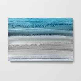 Waves on The Moon Metal Print