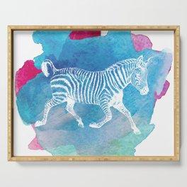 Color Spot Safari Zebra Serving Tray