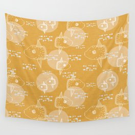 Mola Mola Yellow-Ocean sunfish Wall Tapestry