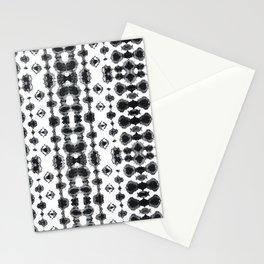 Shibori Ikat Habotoi BW Stationery Cards