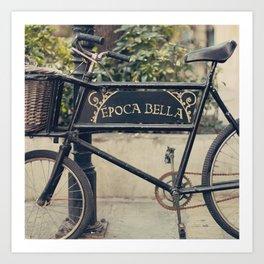 La Bella Epoca, La Belle Epoque, Vintage Bicycle  Art Print