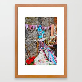Summer Craft Fair Framed Art Print