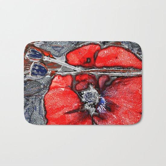 Poppies(crystal). Bath Mat