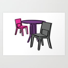 Table & Chairs 01 Art Print