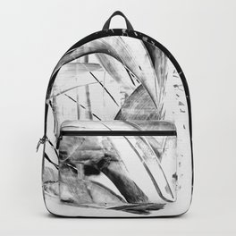 Contemporary Art - Black and White Embers 1 - Sharon Cummings Backpack