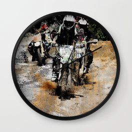 Oncoming! - Motocross Racers Wall Clock