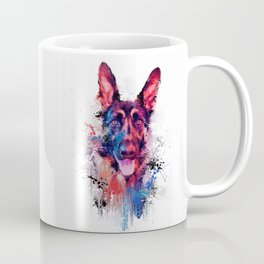 Drippy Jazzy German Shepherd Colorful Dog Art by Jai Johnson Coffee Mug