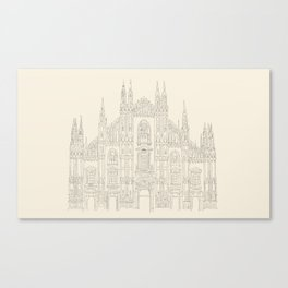 Cathedral of Milan Canvas Print