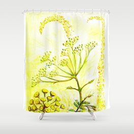 Tansy and Great mullein Shower Curtain