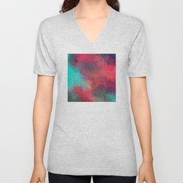 Passionate Firestorm Abstract Painting Unisex V-Neck