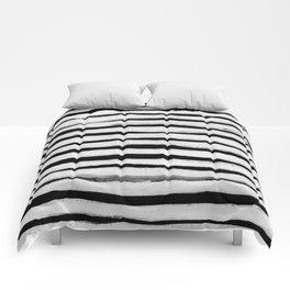 Black and White Stripes II Comforters