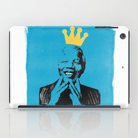 mandela iPad Cases featuring King Mandela by César Ovalle