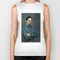 cumberbatch Biker Tanks featuring Intense Cumberbatch. by IntroFlect Studios