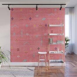 Cactus Silk Pattern in Pink Wall Mural