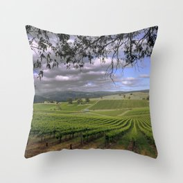 Stormy Day in the Vineyard Throw Pillow