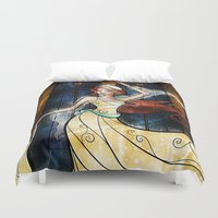 mandie manzano Duvet Covers featuring Once upon a December by Mandie Manzano