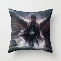 grace Throw Pillows featuring Grace by jasric