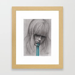 NaNoDrawMo 2012 - 01 Framed Art Print