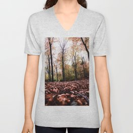 Autumn colors in the forest Unisex V-Neck