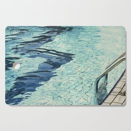 Summertime swimming Cutting Board