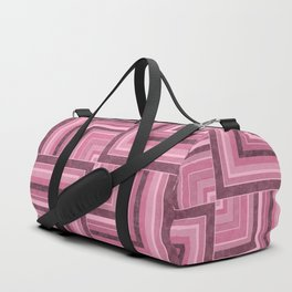 Geometric pink marble pattern Duffle Bag