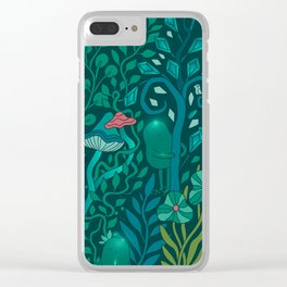 Emerald forest keepers. Magic woodland creatures. Clear iPhone Case