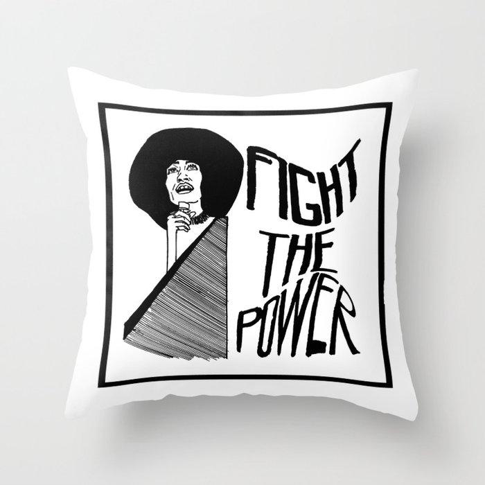 Fight the Power: Angela Davis Throw Pillow