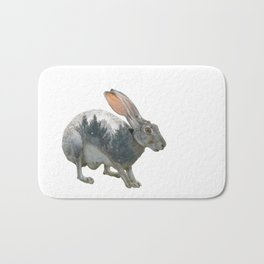 Hare Double Exposure Bath Mat