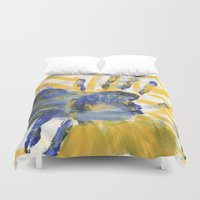 sun and moon Duvet Covers featuring Sun-Moon by Lindsey Quakenbush