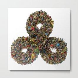 Triple Infinity Millionz-O-Doodz Metal Print
