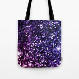 Purple Ombre Sparkles Tote Bag