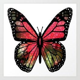 Butterfly Mosaic Art Print