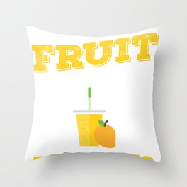 Fruit Smoothies Anyone Smoothie Lover Health Drink Throw Pillow