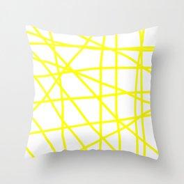 Doodle (Yellow & White) Throw Pillow