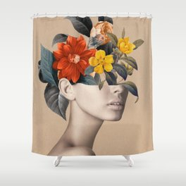 woman with flowers 8 Shower Curtain