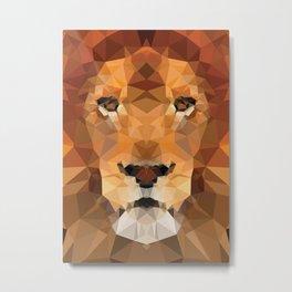 Lion Geo Metal Print