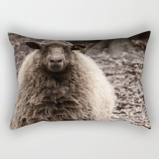 Sheep Stare Rectangular Pillow