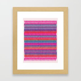 Shard Hand-Print Geometric - Bright Framed Art Print