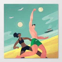 Beach Volleyball Canvas Print
