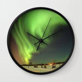 Aurora Borealis or Northern Lights - Alaska Wall Clock