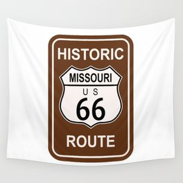 Missouri Historic Route 66 Wall Tapestry