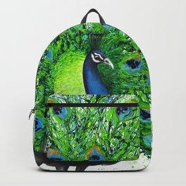 Peacock Bird Backpack