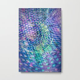 swirl and dots Metal Print