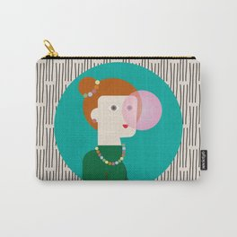 The girl and the bubble gum Carry-All Pouch