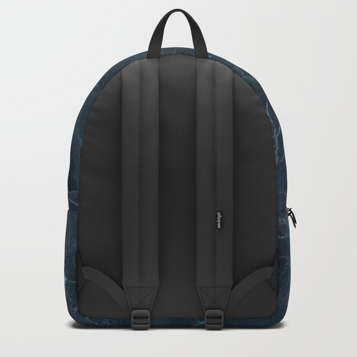 Dark blue marble texture Backpack