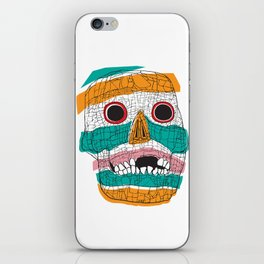 Stripy Skull  iPhone Skin