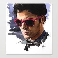 darren criss Canvas Prints featuring Darren by Monika Gross