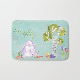 Easter Morning I- Animal Rabit Hare Bunny Spring for children Bath Mat